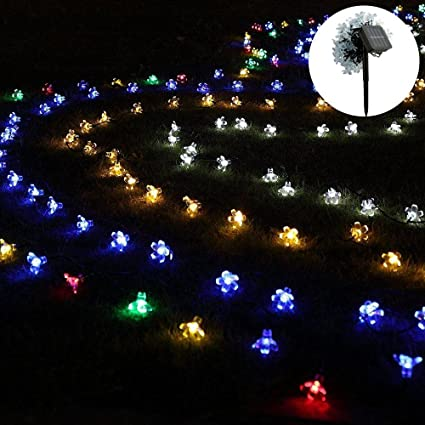 Outdoor Fairy Lights Mesmerizing Amazon Teepao Solar String Lights With Ground Plug 60 LED