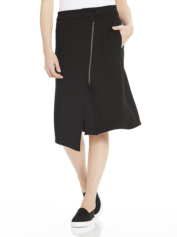 TALLA M. Bench Sweat Skirt Asymetrical Zip Front Falda para Mujer