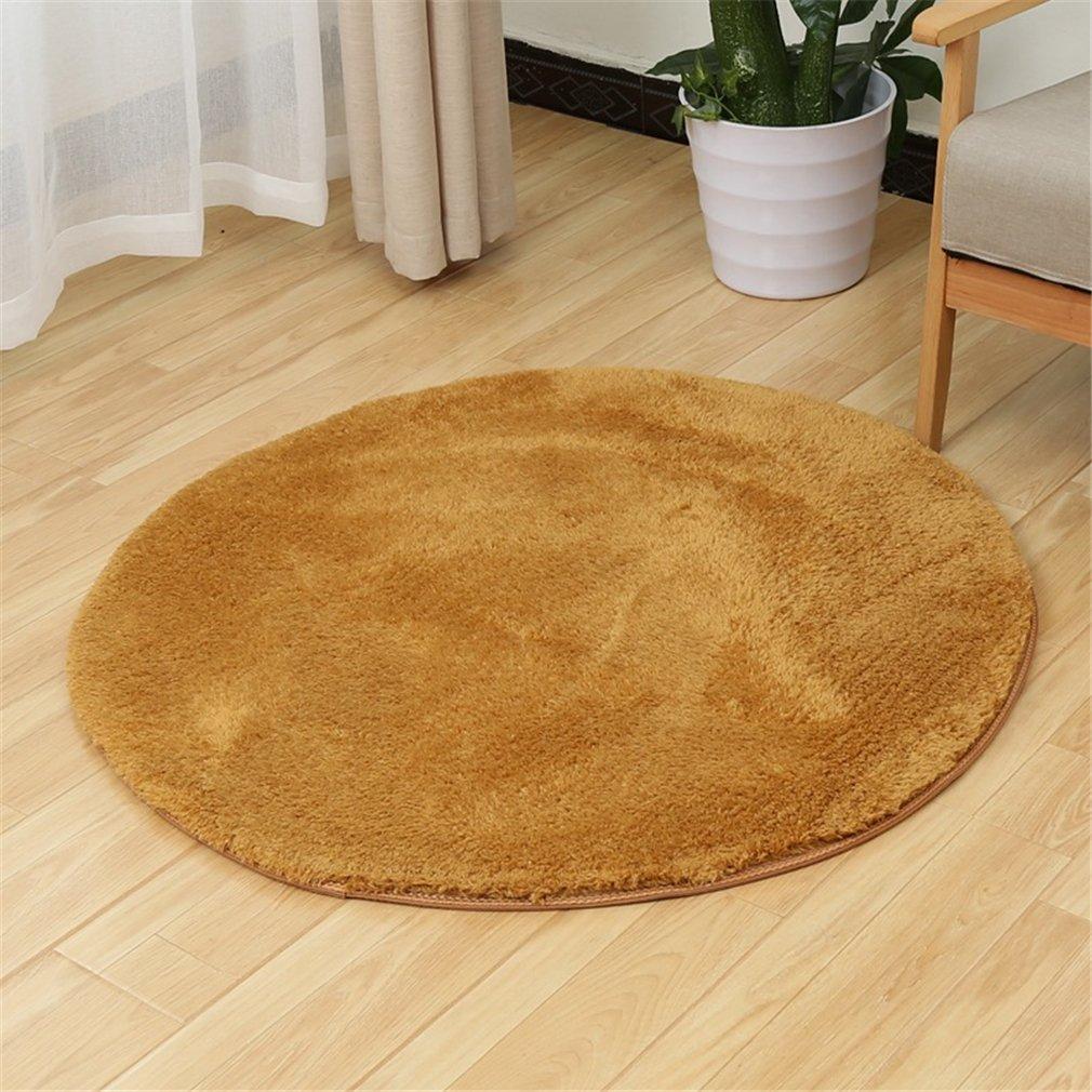 MIRUIKE Round Area Rugs Fitness Yoga Mat for Bedroom Living Room Non-slip Soft