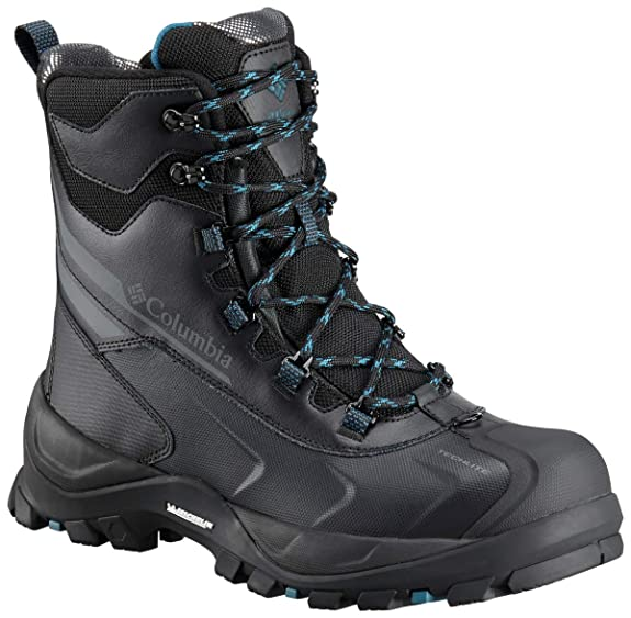 Columbia Men's Bugaboot Plus IV Omni-Heat Mid Calf Boot, Black, Phoenix Blue, 9.5 best men's snowboots