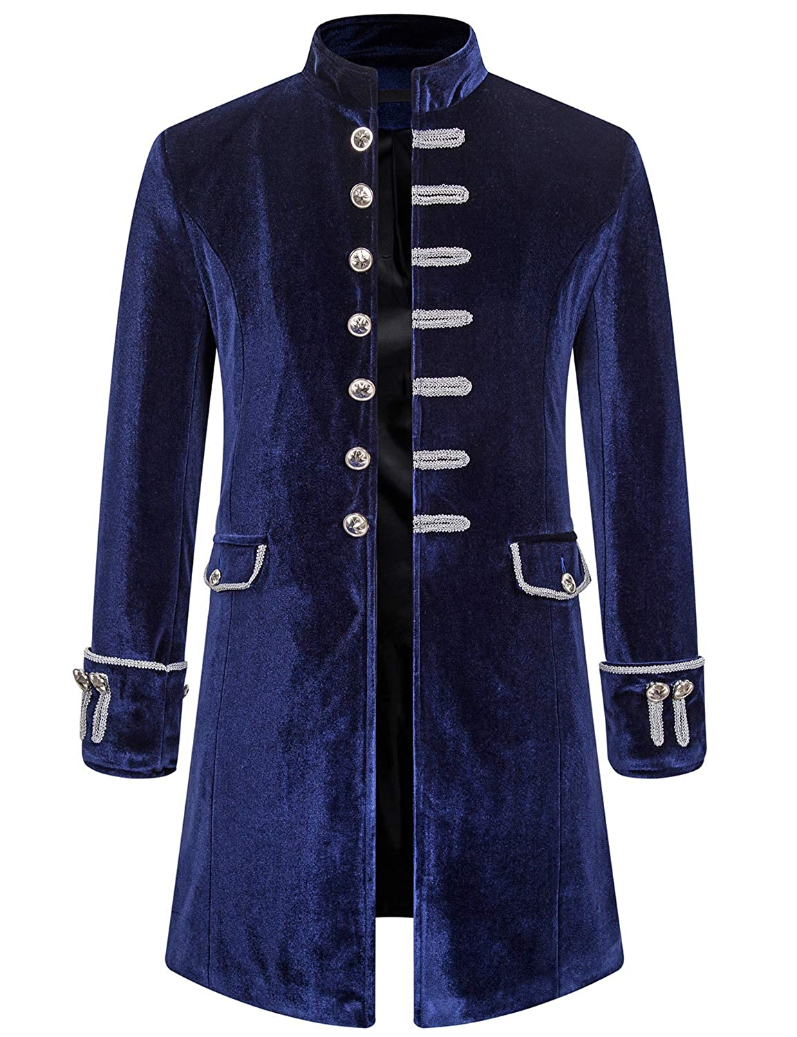 Masquerade Ball Clothing: Masks, Gowns, Tuxedos Mens Vintage Halloween Costume Gothic Style Long Jacket Steampunk Victorian Frock Coat $62.99 AT vintagedancer.com