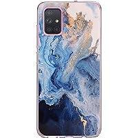 Compatible para Samsung Galaxy A51 5G Funda, Original Transparente Silicona Mármol TPU Teléfono Carcasa Ultra Delgado Flexible Antigolpes Proteccion Estuche para Samsung Galaxy A51 5G Caso