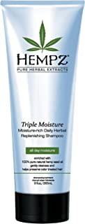 product image for Hempz Triple Moisture-Rich Daily Herbal Replenishing Shampoo, Pearl Blue, Enchanted Grapefruit, 9 oz. - Hair Thickening Agent for Women and Men, All Natural, Proven Hydrating Shampoos