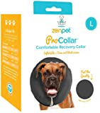 ZenPet ProCollar Pet E-Collar for Dogs and Cats - Comfortable Recovery Collar is Inflatable and Does Not Block Vision