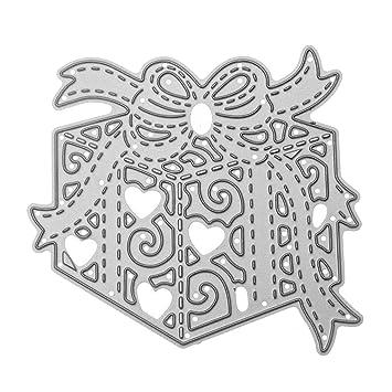 Acero al carbono caja de regalo de Navidad en relieve troqueles de corte plantillas molde para DIY tarjeta de Navidad álbum de Scrapbooking: Amazon.es: ...
