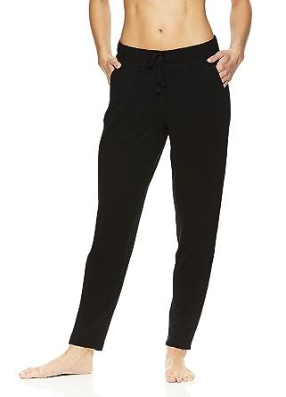 31a763ad73 Gaiam Women's Gemma Harem Yoga Pants - Activewear Bottoms w/Drawstring  Waistband - Black (