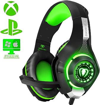 ShinePick - Auriculares de diadema para videojuegos para PS4 Xbox ...