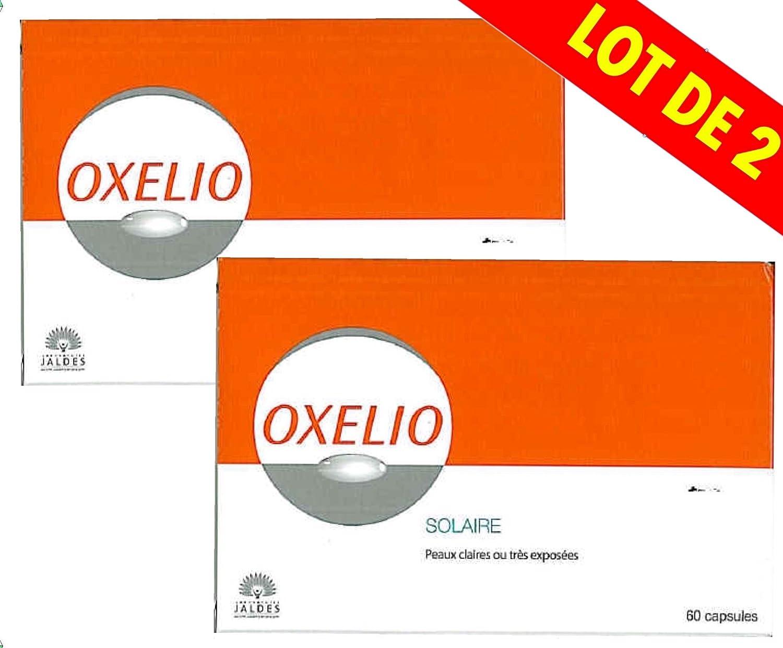 Oxelio - Solaire Peaux Claires ou trés exposées - Lot de 2 x 60 Capsules Jaldes 271164