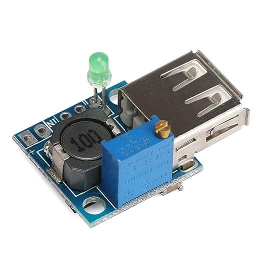 DROK® DC-DC Buck Converter USB Adjustable Voltage Regulator Wireless  Charging Power Bank Ipad MP3 Phone Charger Step Down Converter Module