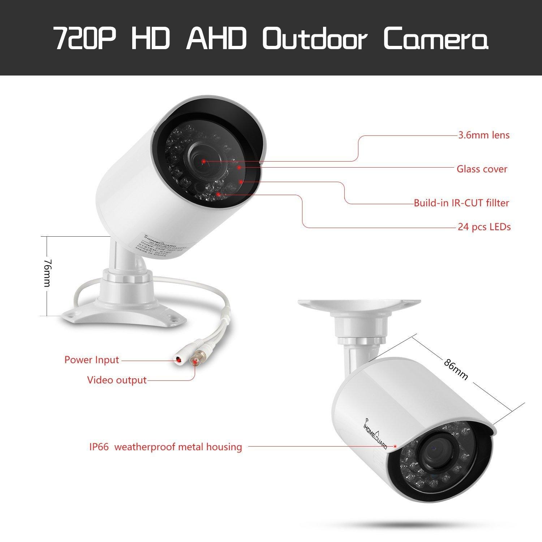 Amazon.com : Camara De Seguridad Para Casas Profesionales Vision Noche DVR Afuera 8 Pck : Camera & Photo