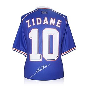exclusivememorabilia.com Camiseta de fútbol de Francia firmada por Zinedine Zidane.: Amazon.es: Deportes y aire libre