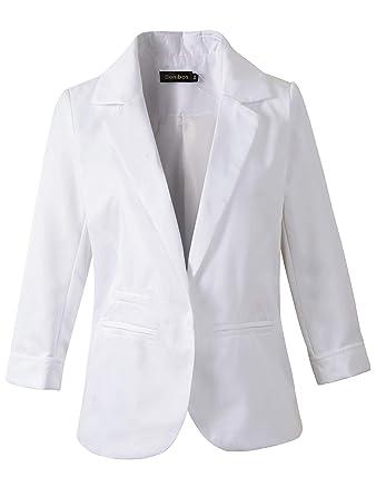 Benibos - Chaqueta de Traje - para Mujer Blanco Blanco L ...