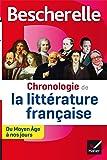 Bescherelle Chronologie de la littérature française: du Moyen Âge à nos jours (Bescherelle culture)
