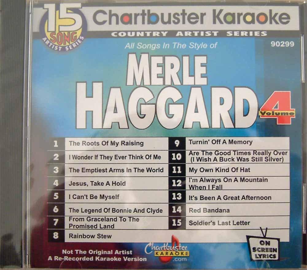 MERLE HAGGARD vl 4 - CHARTBUSTER KARAOKE CD+G 15 songs CD