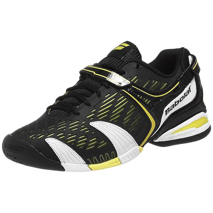 BABOLAT Propulse 4 Zapatilla de Tenis Caballero, Negro/Blanco/Amarillo, 45: Amazon.es: Zapatos y complementos