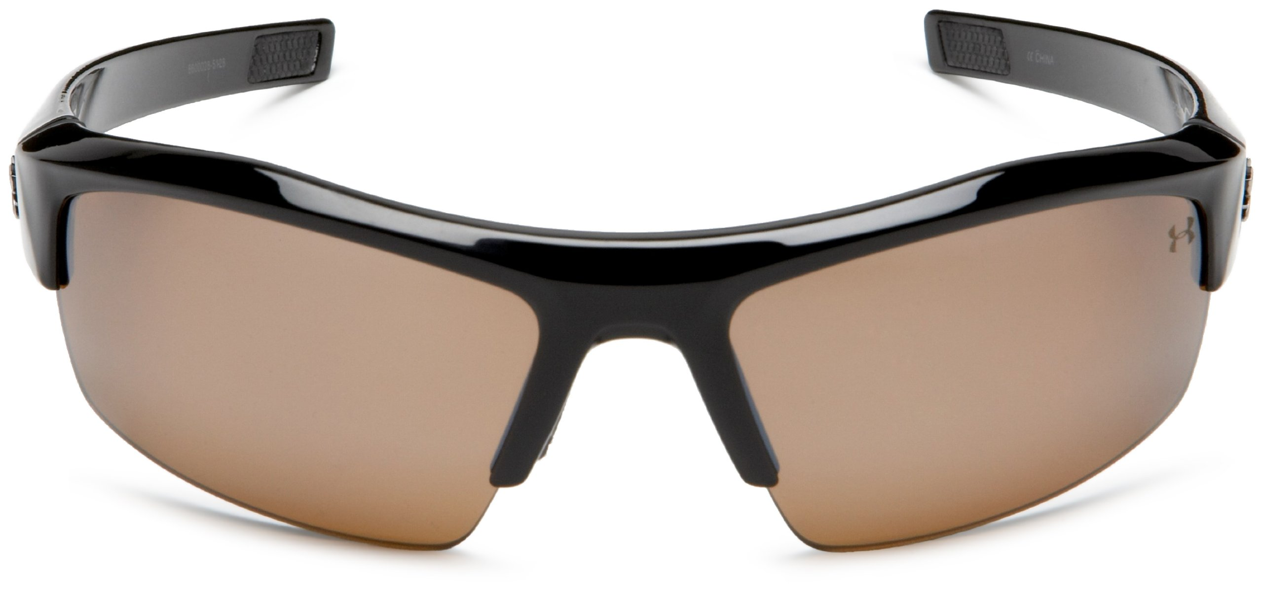 Under Armour Igniter Polarized Multiflection Sunglasses, Shiny Black Frame/Brown Lens, one size by Under Armour (Image #2)