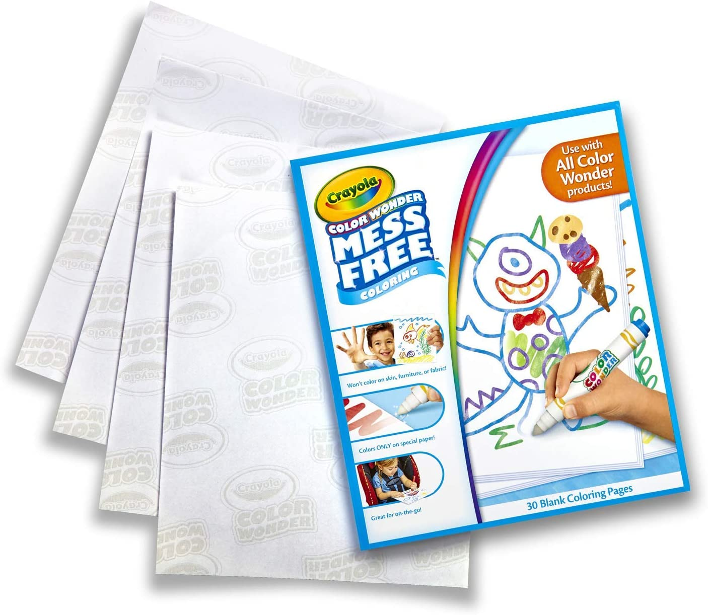 Amazon Com Crayola Color Wonder Mess Free Coloring Blank Coloring 30 Pages Toys Games