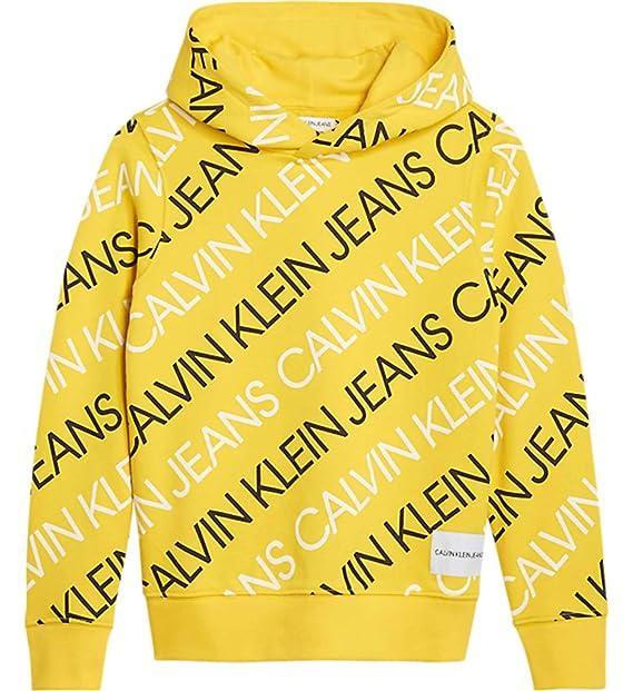 Calvin Klein Jeans IB0IB00011 Sudadera niño limón 8: Amazon.es: Ropa y accesorios
