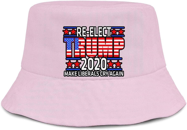 Sports Cap LDOEPWQDG Summer Unisex Bucket Hat Cool Sport Hat Mens Womens Dump-Trump-Vinyl-Decals