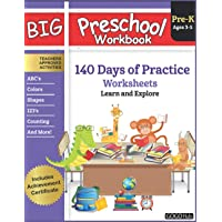 Big Preschool Workbook Ages 3 - 5: 140+ Days of PreK Curriculum Activities, Pre K Prep Learning Resources for 3 Year…