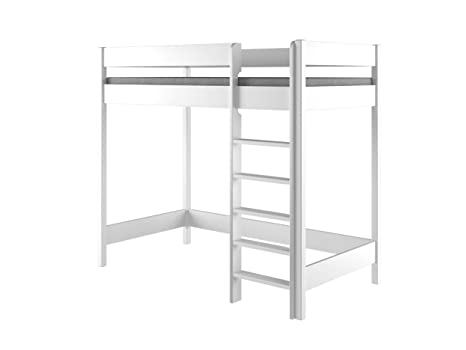 Lit Mezzanine Bois Blanc.Lit Mezzanine Hubi Loft Bunk Bed Monte Par L Avant Bois Dense Blanc 200x90x160