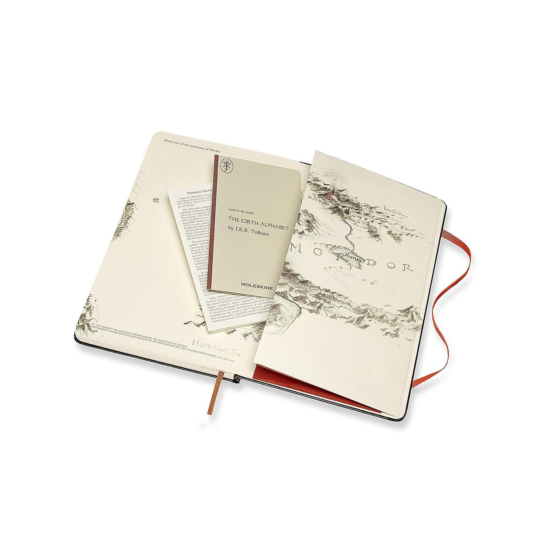 Dimensione Large 13 x 21 cm 240 Pagine Moleskine Notebook Il Signore Degli Anelli Edizione Limitata The Lord Of The Rings Chiusura ad Elastico e Pagina a Righe Taccuino Copertina Rigida