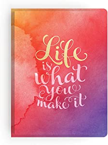 Paper House Productions JL3006 Watercolor Life Is What You Make It Softcover Journal Dot Grid Notebook
