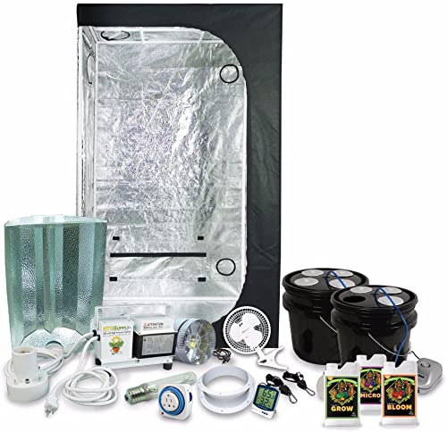 HTGSupply 2 x 3 36 x22 x63 Grow Tent Kit Complete with 250-Watt HPS Grow Light DWC Hydroponic System Advanced Nutrients