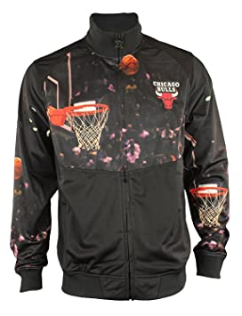 Chicago Bulls NBA de red cremallera completa chaqueta de chándal para hombre, color negro, Atlético, Negro: Amazon.es: Deportes y aire libre