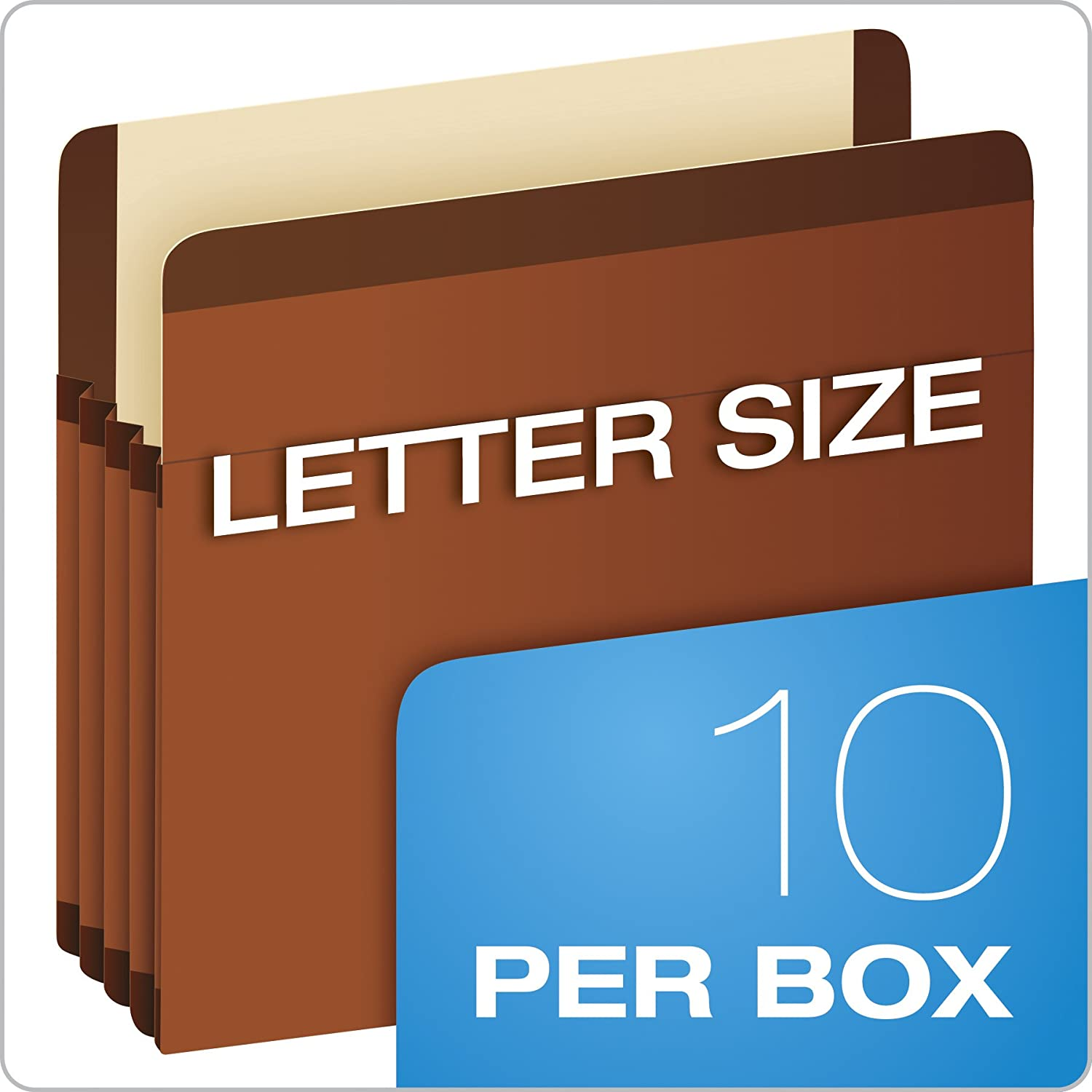 Legal size with 5 1//4 expansion Pendaflex Premium Reinforced Recycled File Pockets 5 Pack 85565