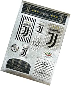 Louishop Football Club Stickers Laptop Stickers for Car Motorcycle Bicycle Luggage Graffiti Patches Skateboard Wall Decals (Juventus)