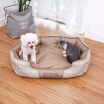 FELICIOO Nido del Animal doméstico Perilla de algodón mordedura Perro Cama Perro cojín del sofá (