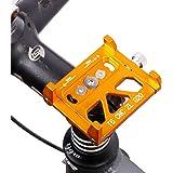 West Biking スマートフォン用ホルダー アルミ合金製 自転車携帯ホルダー 調整可能 6.5インチまでの機種対応 GPSナビ・スマホ・iPhone固定用 耐震性 全6色