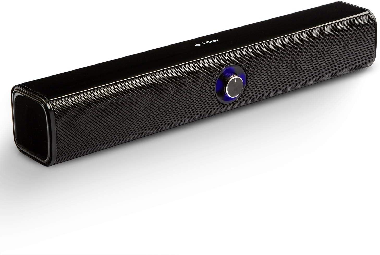 Barra de Sonido para Ordenador, TV, Portátil Altavoces PC Sobremesa, Bluetooth Inalambrico con Conexión USB, True Wireless Pairing (TWS) Sonido Estéreo