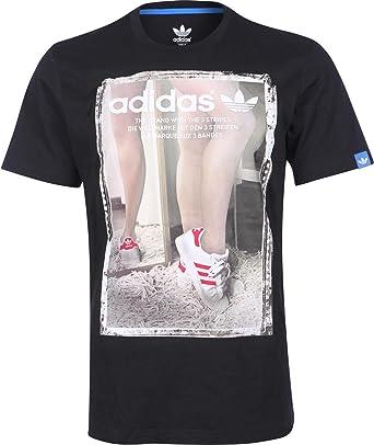 adidas Originals Mens Mens GR Self Photo T-Shirt in Black - L