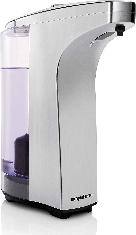 Simplehuman ST1023 Distributeur à  capteur compact avec échantillon de savon, nickel brossé | 237ml