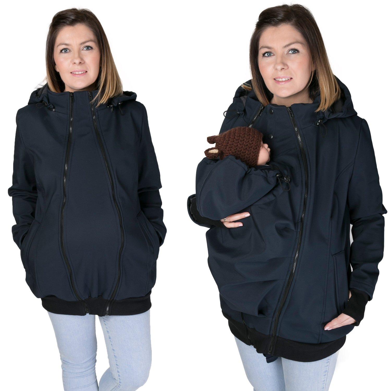 FUN2BEMUM 3in1 Softshell Babywearing jacket maternity coat NAVY NP16