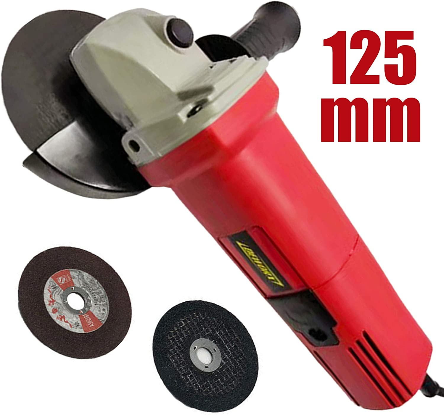 850W Corded Angle Grinder 5 inch Angle Grinder 125mm Grinding Disc with 2 Blade