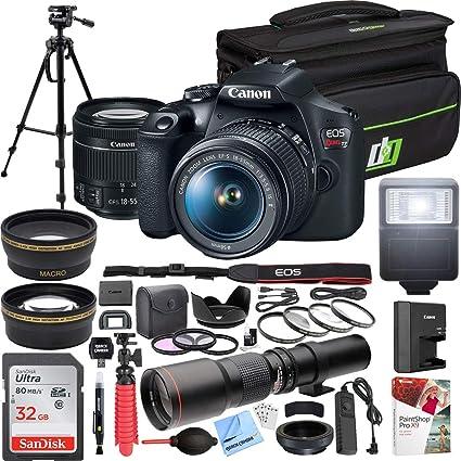 Amazon.com: Canon T7 EOS Rebel DSLR cámara con lente EF-S ...