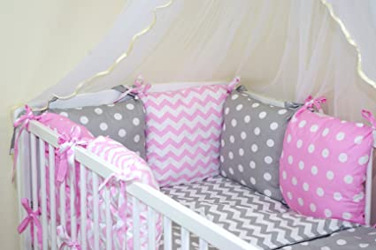 47 COLOURS 28-54 NEW BABY BUMPER MADE OF 6 PILLOWS