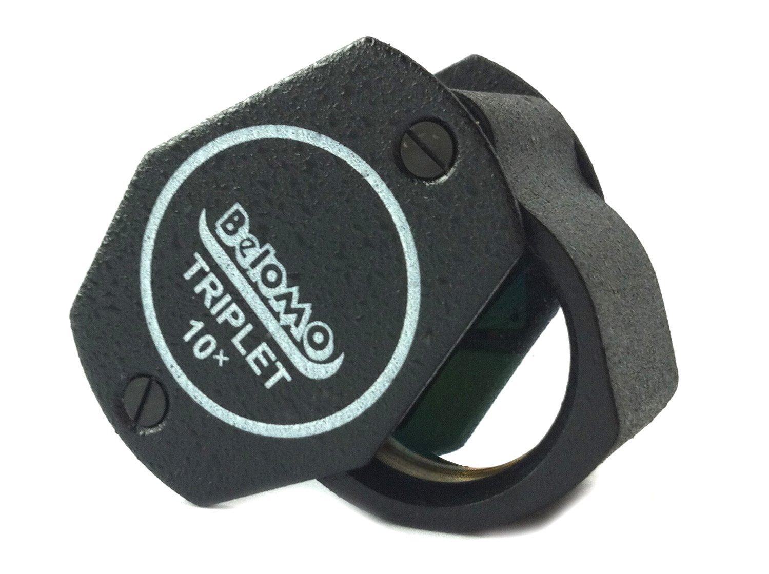 BelOMO 10x Triplet Loupe Folding Magnifier