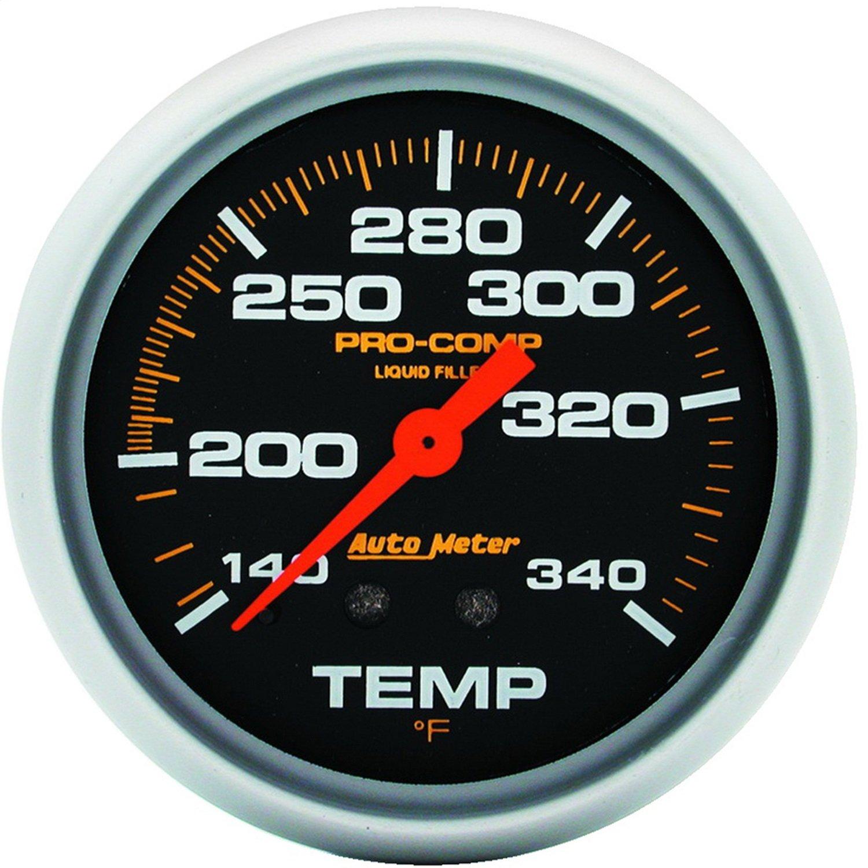 Auto Meter 5435 Pro-Comp Liquid-Filled Mechanical Water Temperature Gauge