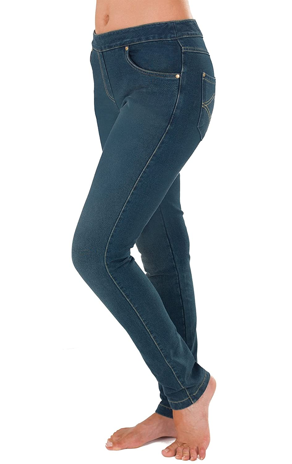 f0145915cf857 best PajamaJeans Women's Skinny Stretch Knit Denim Jeans in Antique Blue  Wash G03329