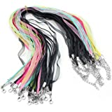20 pièces colorées Voile Chaîne Spinning cordon homard fermoir organza Colliers