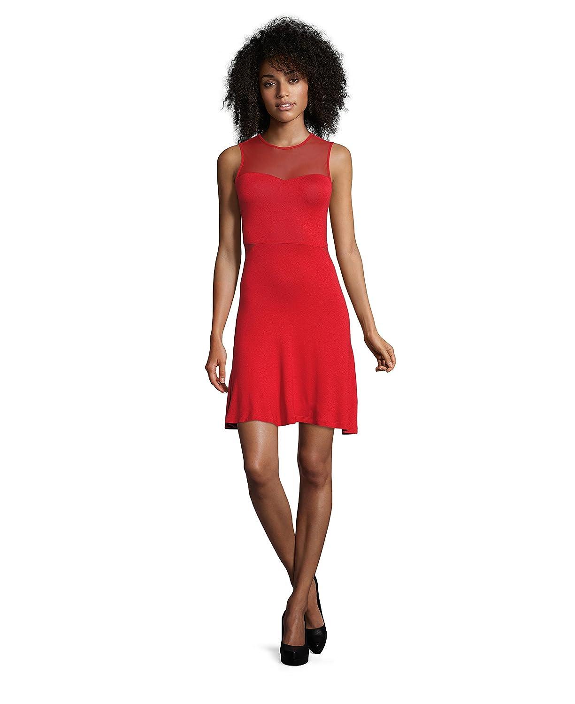 Even&Odd Kleid Damen Rot o. Schwarz, uni – Partykleider transparent ...