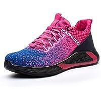 UCAYALI Zapatos de Seguridad Hombre Unisex Zapatillas de Trabajo con Puntera de Acero Calzado Antideslizante…