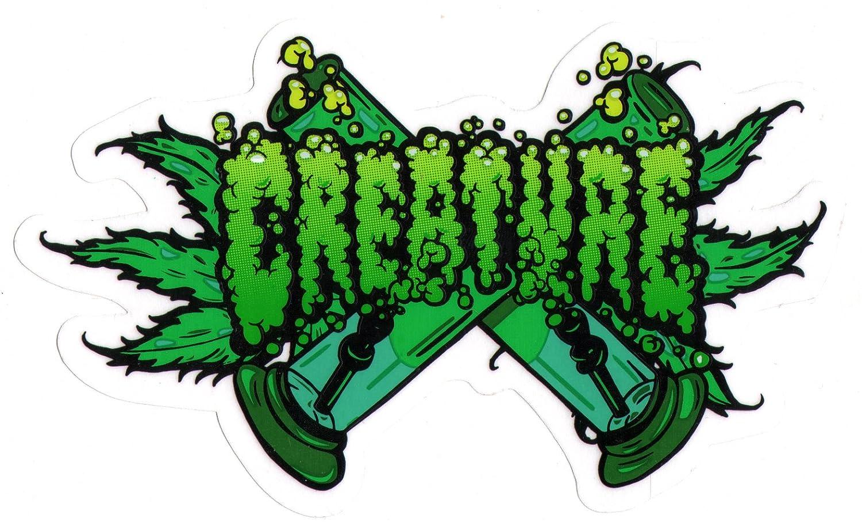 Creature Skateboard-Sticker - OG Kush Bong Weed Cannabis Marihuana Rauchen Creature Skateboards