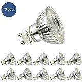 10 X Sanlumia 5W GU10 LED super bright spotlight bulb 380lm Non Dimmable 50W Halogen Equivalen Warm White 3000K