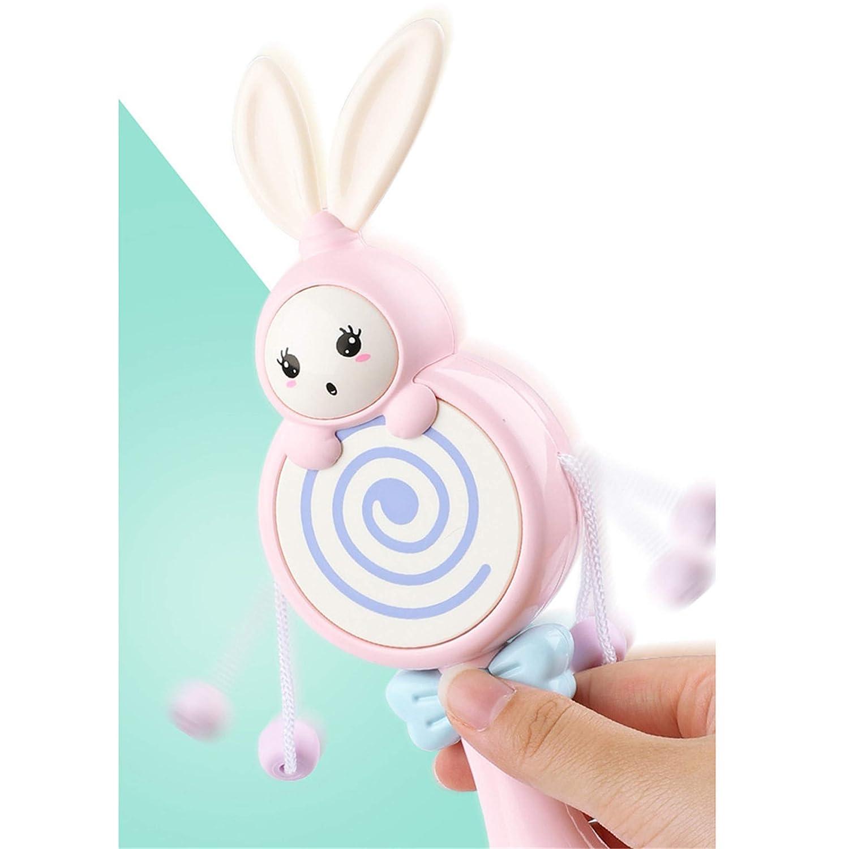 Cartoon Spielzeug happy event Baby Kinder Rasseln Rosa Cute Cartoon Tier Ring Glocke Handglockenst/äbe