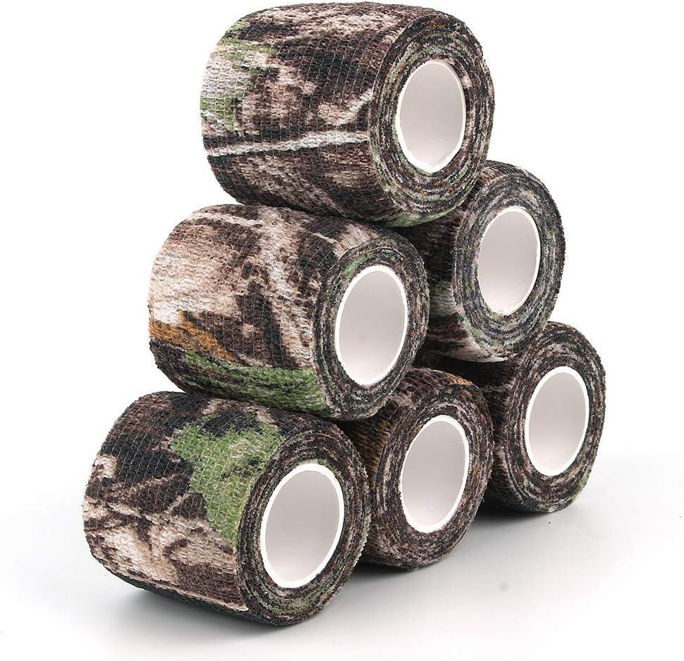 5 Roll Camouflage Tape Scope Wrap Military Stretch Bandage Gun Rifle Shotgun